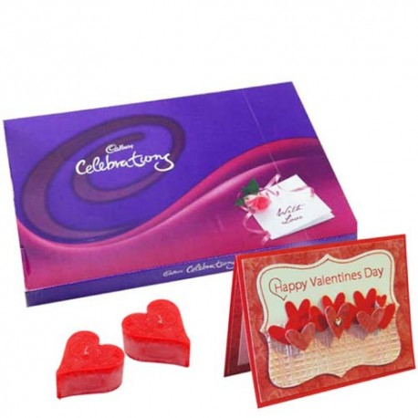 Lovely Valentine Celebrations Chocolate and Card