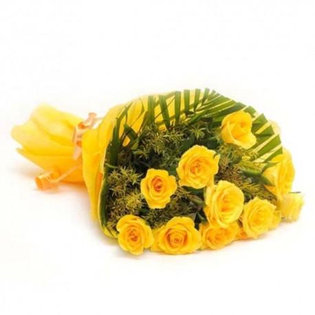 Perfect Valentine of Dozen Yellow Roses