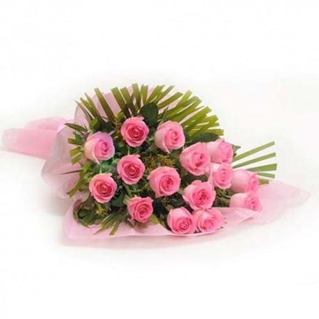 Pink Roses Vase for Valentine