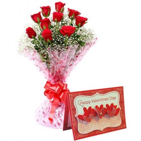 Bunch of Eighteen Romantic Red Roses