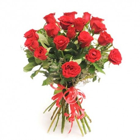 Bouquet of 25 Romantic Red Roses For Valentine Day