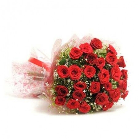 Bouquet of 40 Romantic Red Roses