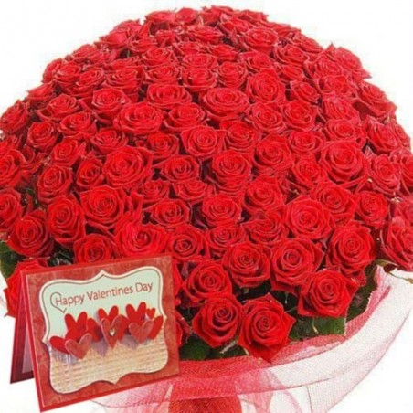 Lovable Bouquet of Red Roses