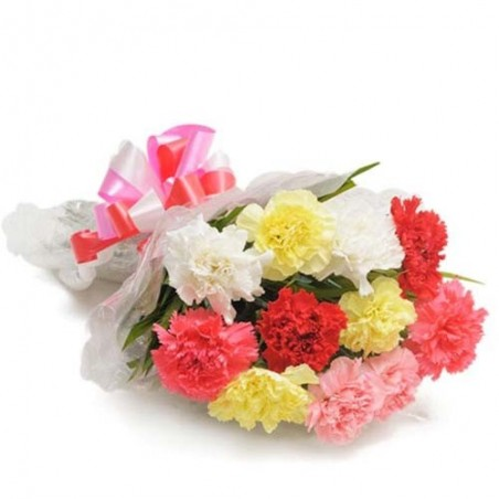 Bouquet of Fifteen Mix Flowers For Valentine