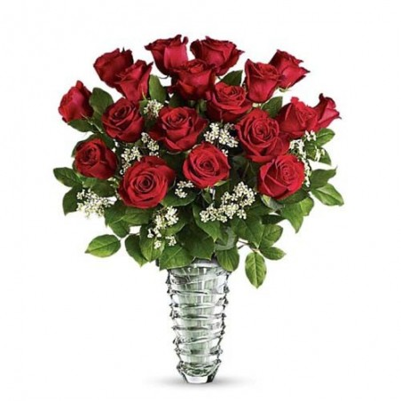 Red Roses Vase For Love One