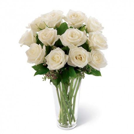 Valentines Day Gift of Dozen Red Roses Basket