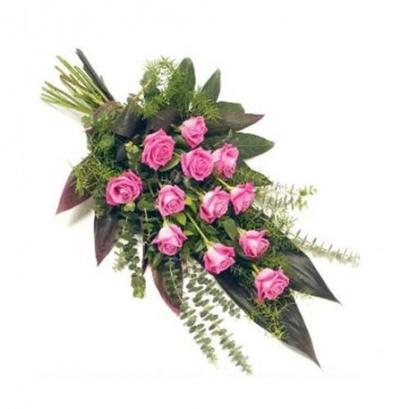 Perfect Love Pink Roses Hand Tied Bunch