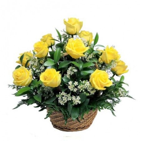 Reflectional Pyaar in yellow Roses