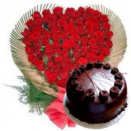 Red Roses Heart Shape Arrangement