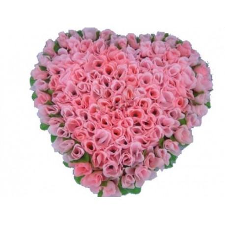 Togetherness with Heart Shape Roses Arrangement