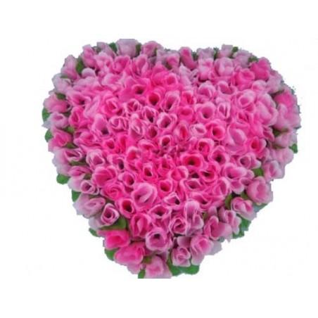 121 Roses Heart Shape Arrangement