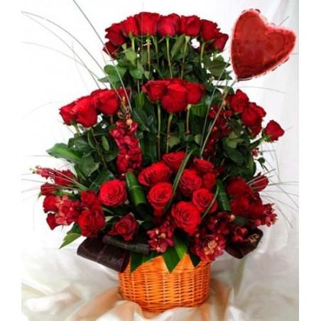 Amazing Valentine Flower Arrangement