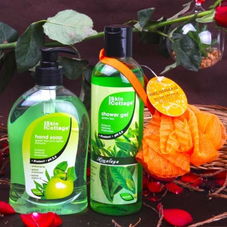 Skin Cottage Green Tea Fragrance Body Care Beauty Hamper for Female
