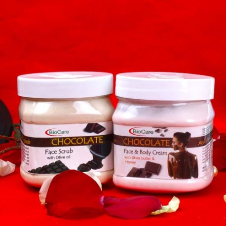 Bio Care Chocolate Body Care Beauty Hamper for Unisex