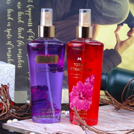 Victoria Secret Total Attraction and Love Spell Fragrance Mist for Her