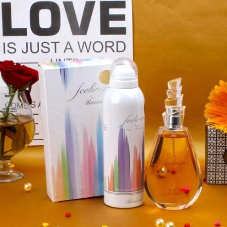 Rasasi Feelings Perfume and Deodorant Women Gift Set