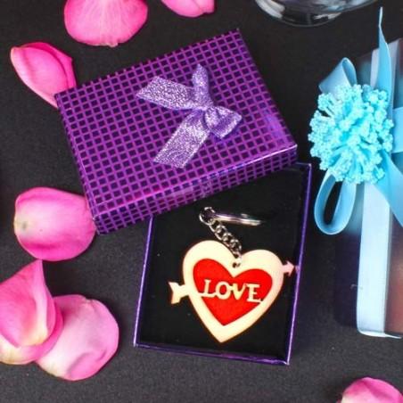 Love Arrow Heart Key Chain