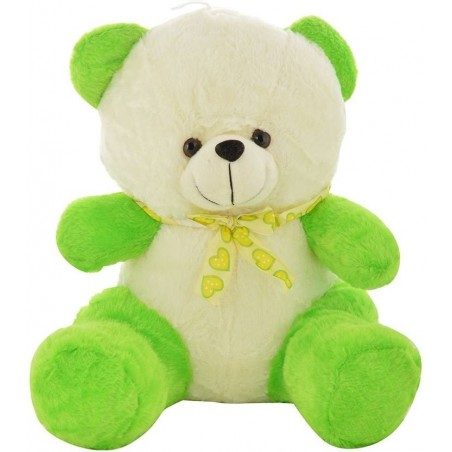 Chunmun Sitting Teddy Bear - 35 cm  (Green White)