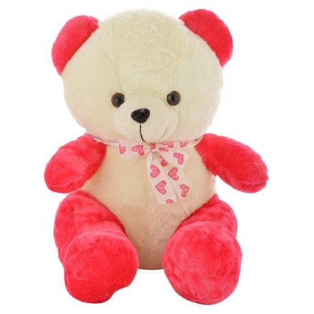 Chunmun Sitting Teddy Bear - 45 cm  (Pink, White)