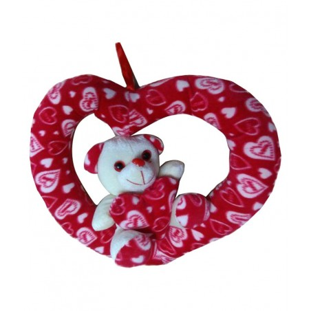 Chunmun Multicolor Teddy Bear in Heart Ring