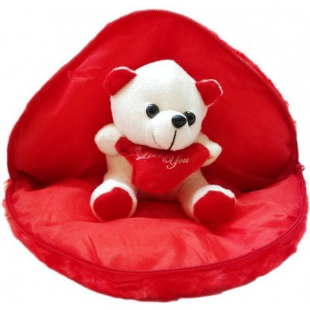 Chunmun Teddy inside Heart Pillow Boyfriend Pillow(Red)