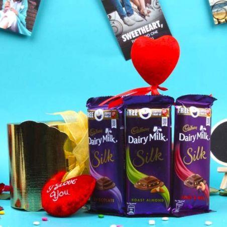 Love Treat of Dairy Milk Silk Chocolates