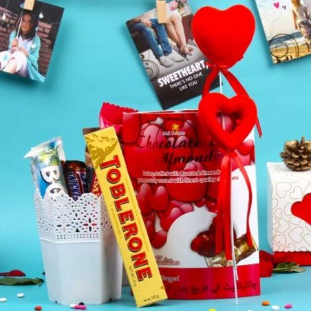 Delectable Imported Chocolate Love Combo