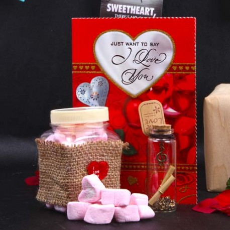 Yummy Marshmallow Love Message Gift