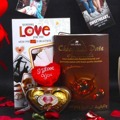 Chocolate Dates Almond Valentine Hamper