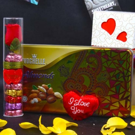 Vochelle Almonds and Wimmy Chocolate Heart Shape Combo