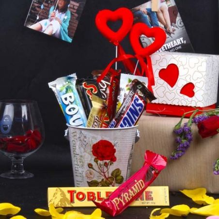 Imported Assorted Chocolates Love Hamper