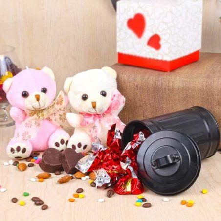 Love Couple Teddy and Chocolate Love Combo