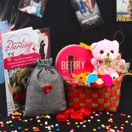 Perfect Valentines Goodies Basket