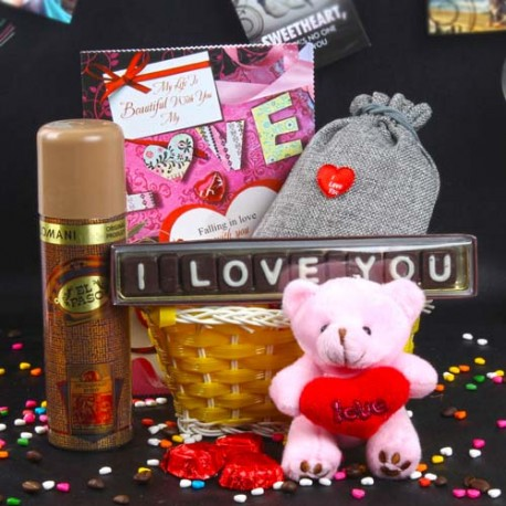 Fragranceful Love Goodies Basket