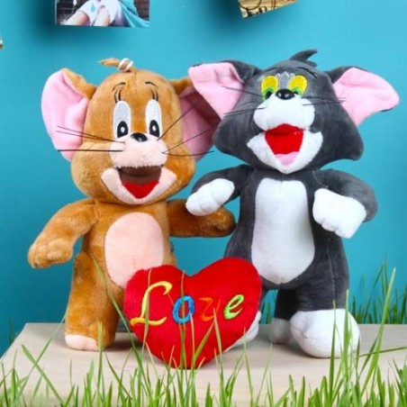 Tom and Jerry Soft Toy with Love Heart