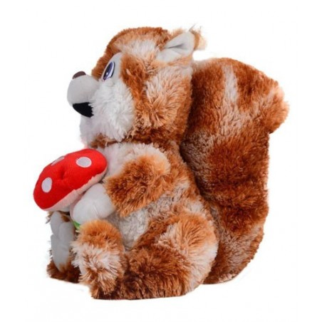 Mutlicolour Fur Squirrel Soft Toys - 35cm