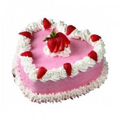 Heart Shape Strawberry Cake - 1.5 kg