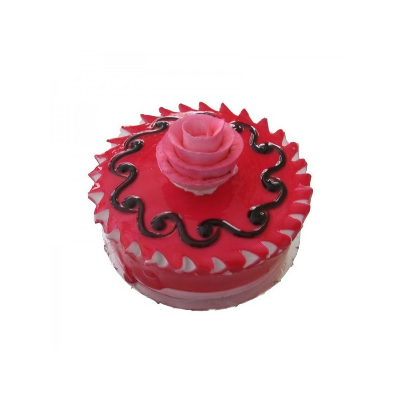 Strawberry Eggless Cake (Sugar & Spices)