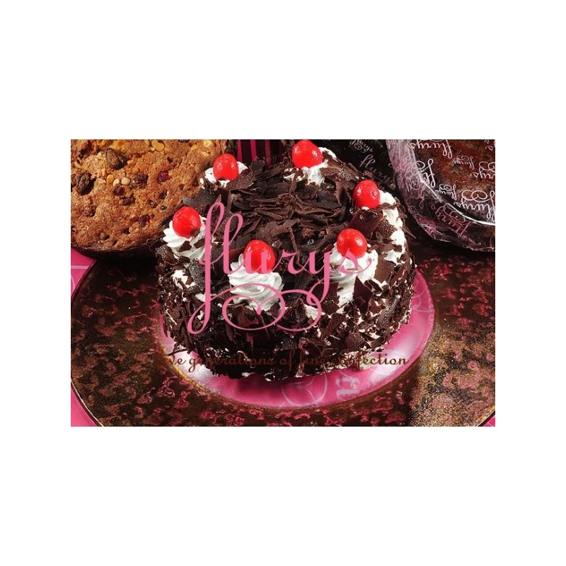 Black Forest Eggless Cake  - 2 Bound (Flurys)