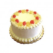 Strawberry Eggless Cake - 2 Pound (Globe Bakers)