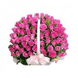 50 Rose Basket