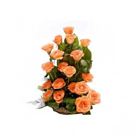 Orange Roses Basket