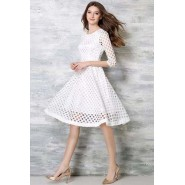 White Lace Piece Frock