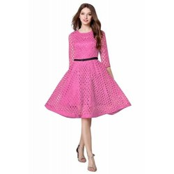Pink Lace Piece Frock