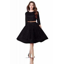 Black Lace Piece Frock
