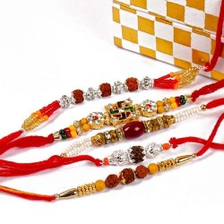 Five Devotional Rakhi Combo