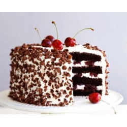 Black Forest Eggless Cake (Oven Fresh)