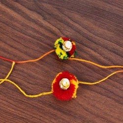 Multicolor Gonda Rakhi Combo