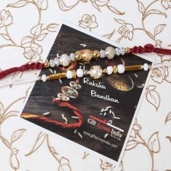 Fashionable Beads Rakhi Set