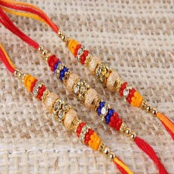 Three Designer Mauli Rakhi...